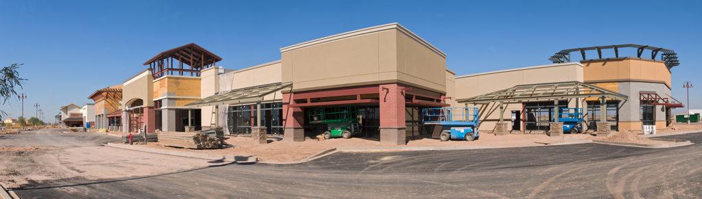 Shopping mall construction