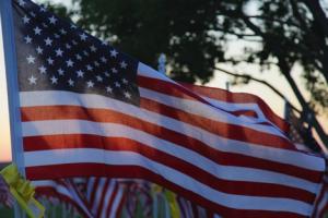 US Flag, Veterans Day Banner