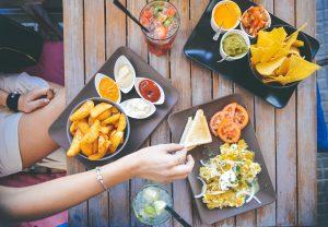 Food on table - Super Bowl